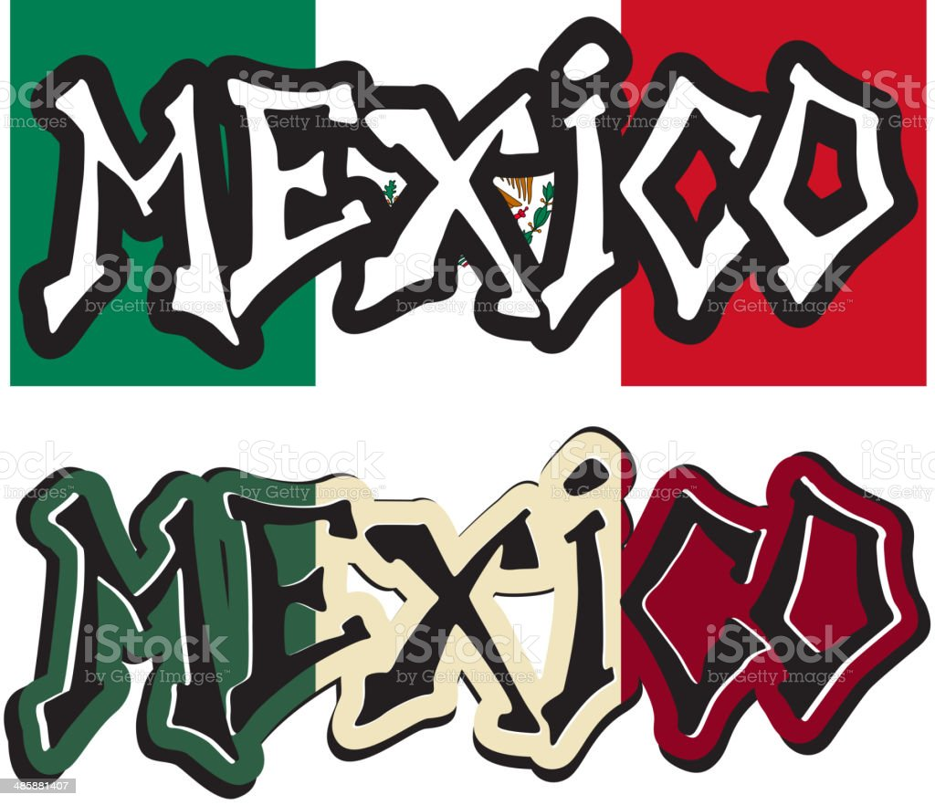 Mexico Word Graffiti Different Style Royalty Free Mexico Word Graffiti Different Style Stock Vector Art