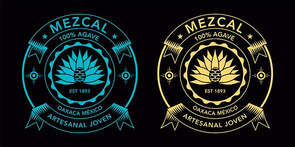 Mezcal spirit label