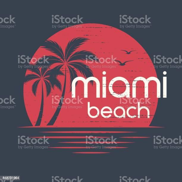 Miami sunset tshirt and apparel vector design print typography poster vector id848231964?b=1&k=6&m=848231964&s=612x612&h=w coniluul avowcjhmiu8ibdj3svxdw cjoxrzk mk=