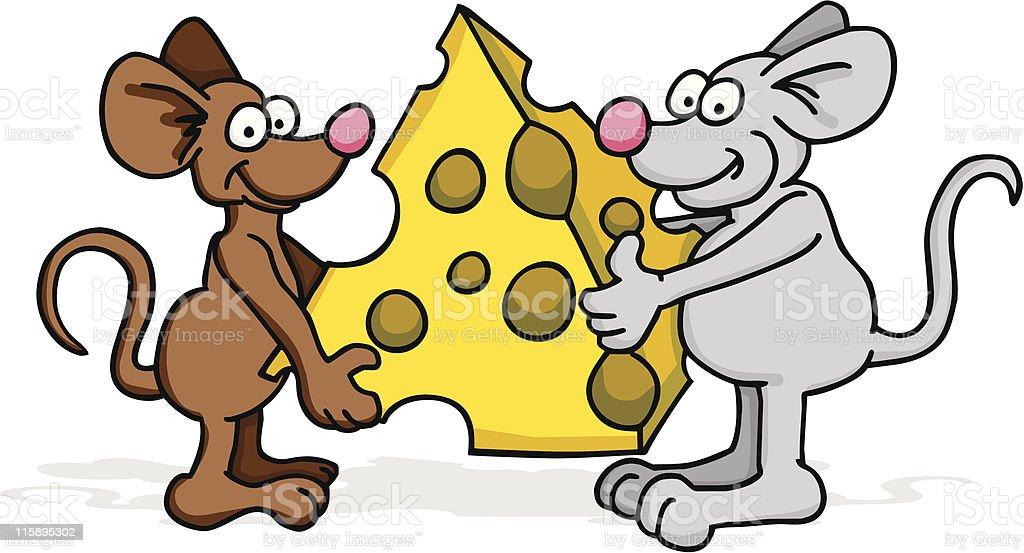 Mice take Cheese royalty-free stock vector art