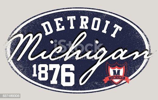 Michigan Detroit College Man T shirt Graphic Design