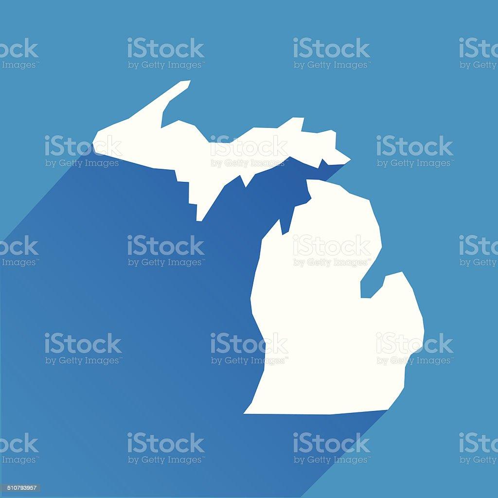 Michigan Icon vector art illustration
