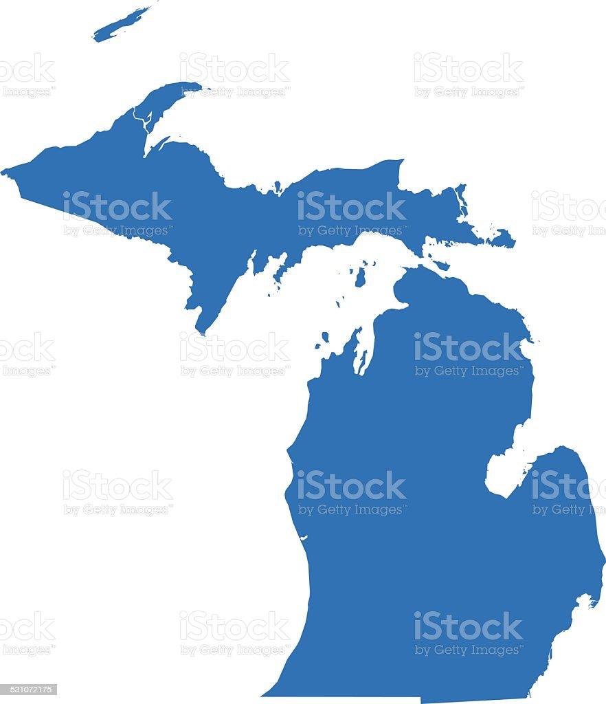 Michigan Map vector art illustration