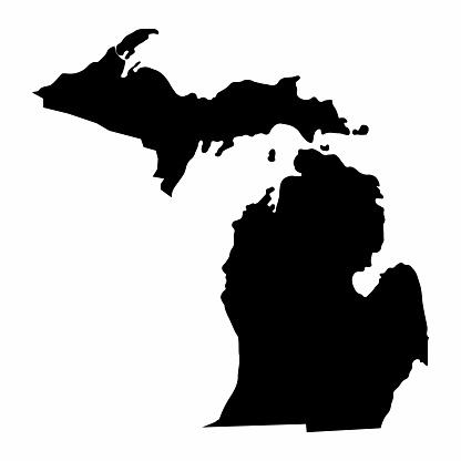 Michigan State silhouette map
