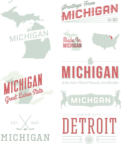 Royalty free great lakes clip art vector images illustrations michigan typography vector art illustration m4hsunfo