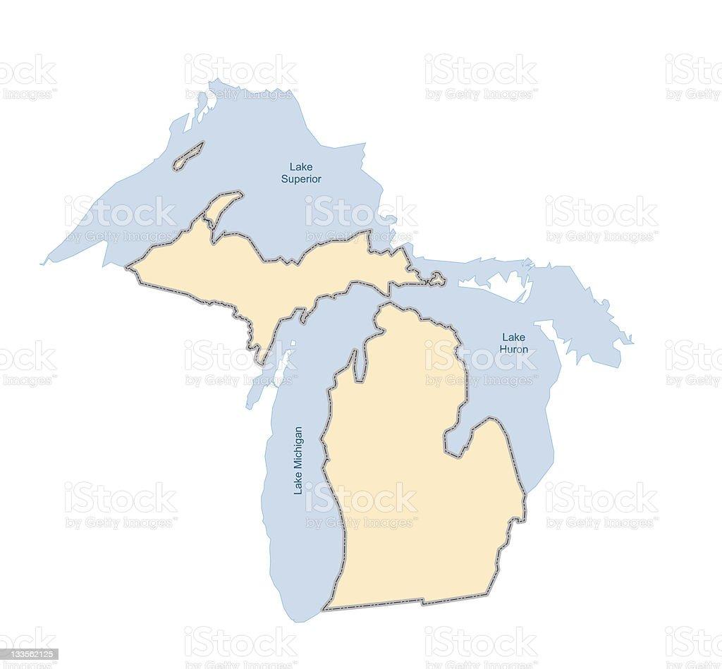 Michigan- vector royalty-free stock vector art
