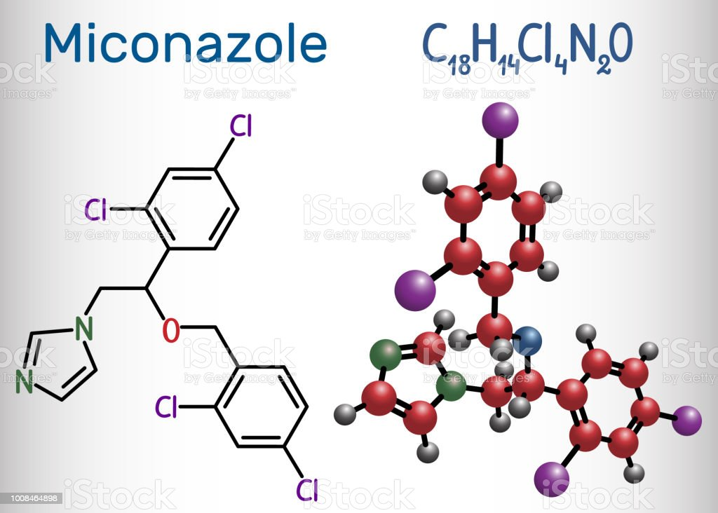 Miconazole molecule it is an antifungal medication used to treat it is an antifungal medication used to treat ring worm pityriasis versicolor ccuart Gallery