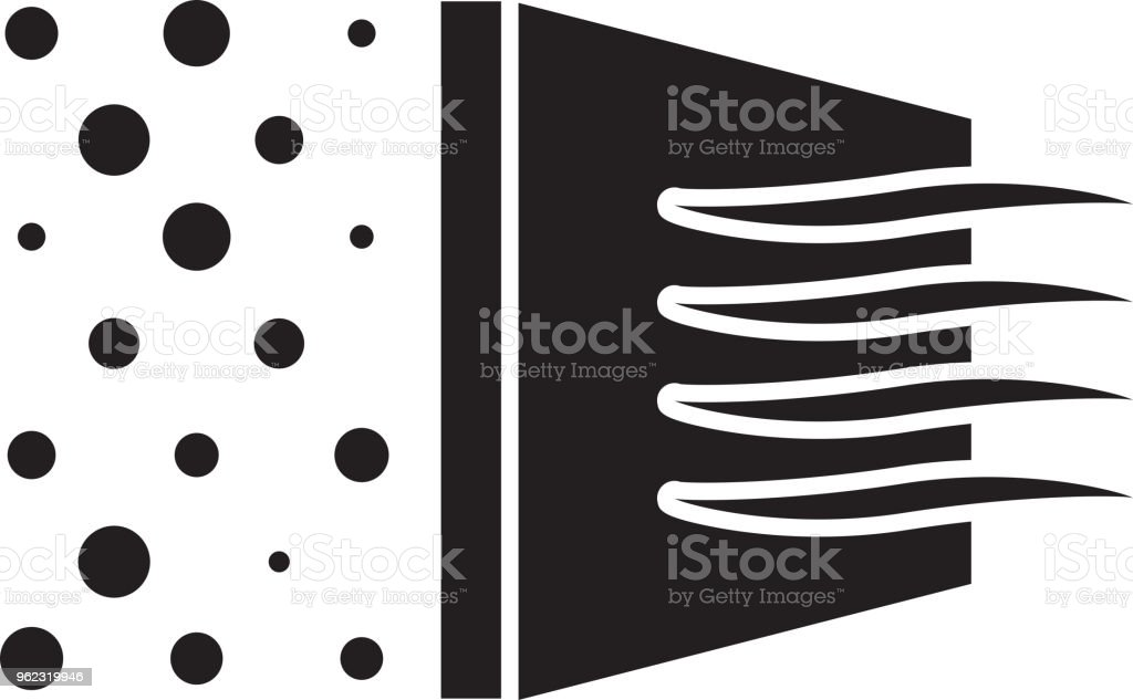 Micro Clean Air Filtration Icon vector art illustration