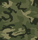 Camouflage print with micro pattern overlay in seamless repeat. Vector eps for easy editing.
