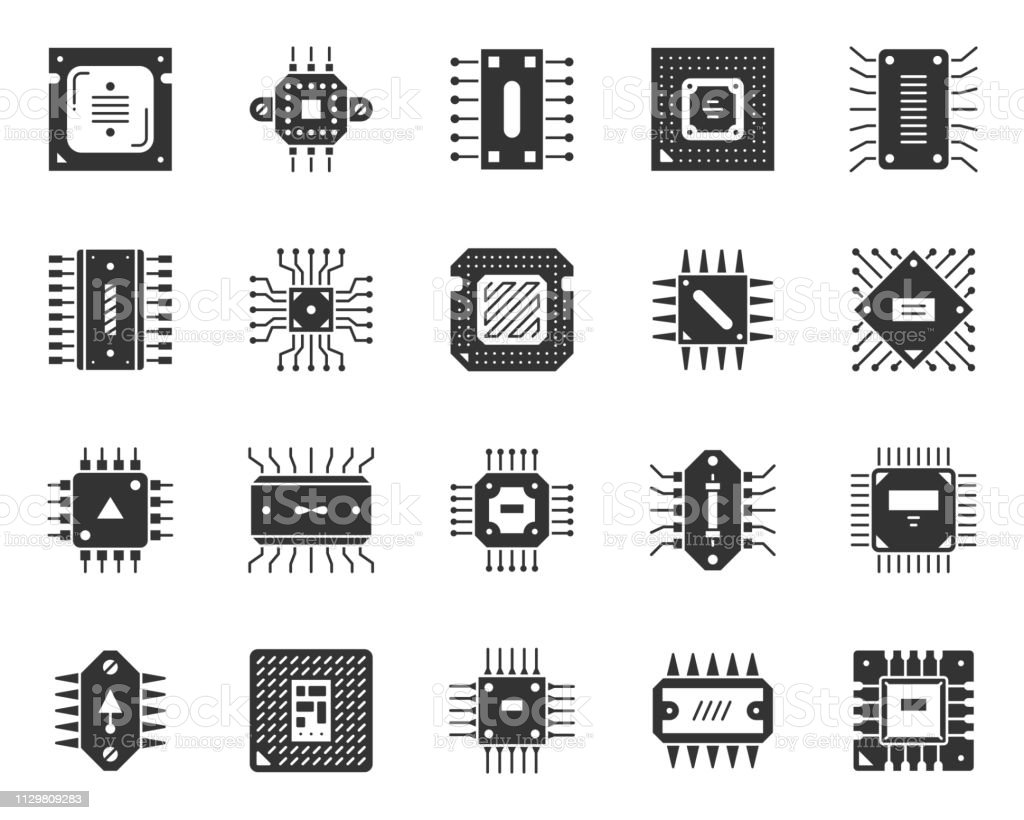 microchip black silhouette icons cpu vector set stock illustration download image now istock microchip black silhouette icons cpu vector set stock illustration download image now istock