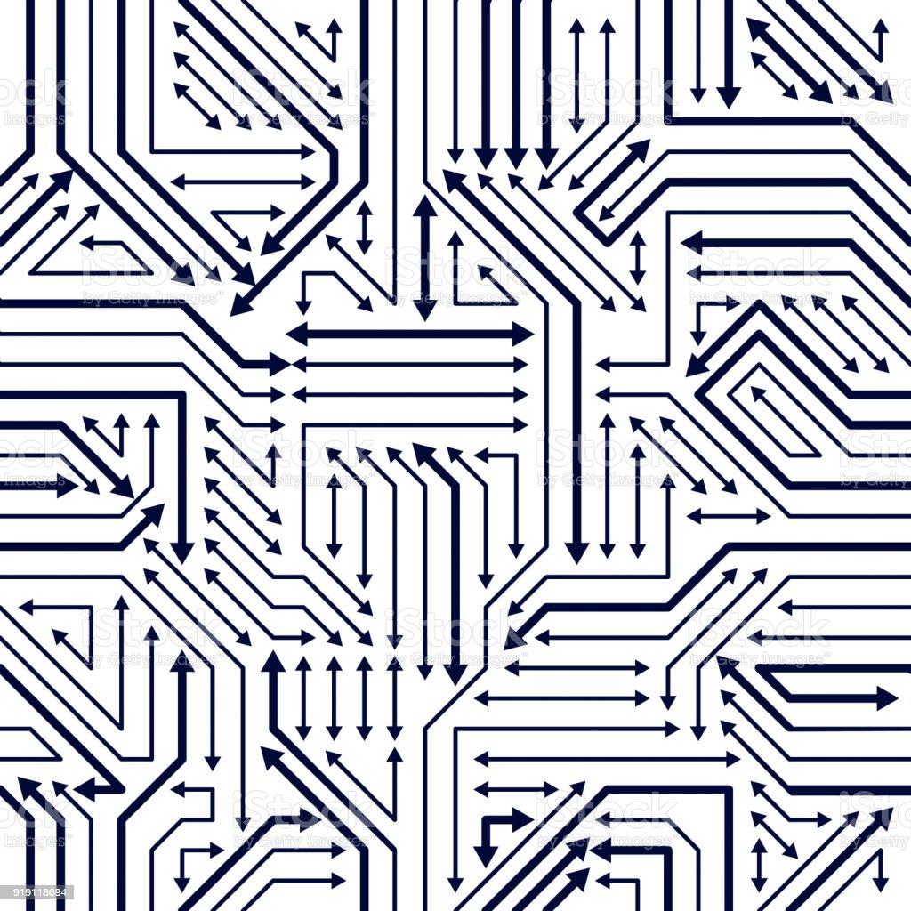 Circuito Eletronica : Ilustração de microchip placa sem costura padrão de fundo vector