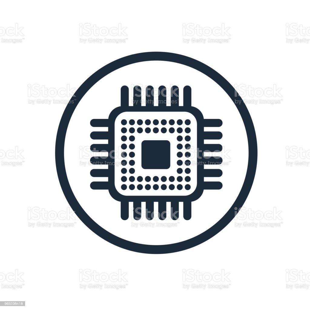 Microchip chip circuit component microchip chip circuit component - stockowe grafiki wektorowe i więcej obrazów abstrakcja royalty-free