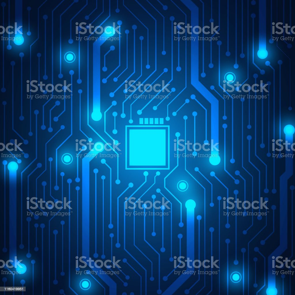 Microchip Technology Background Blue Circuit Board Pattern