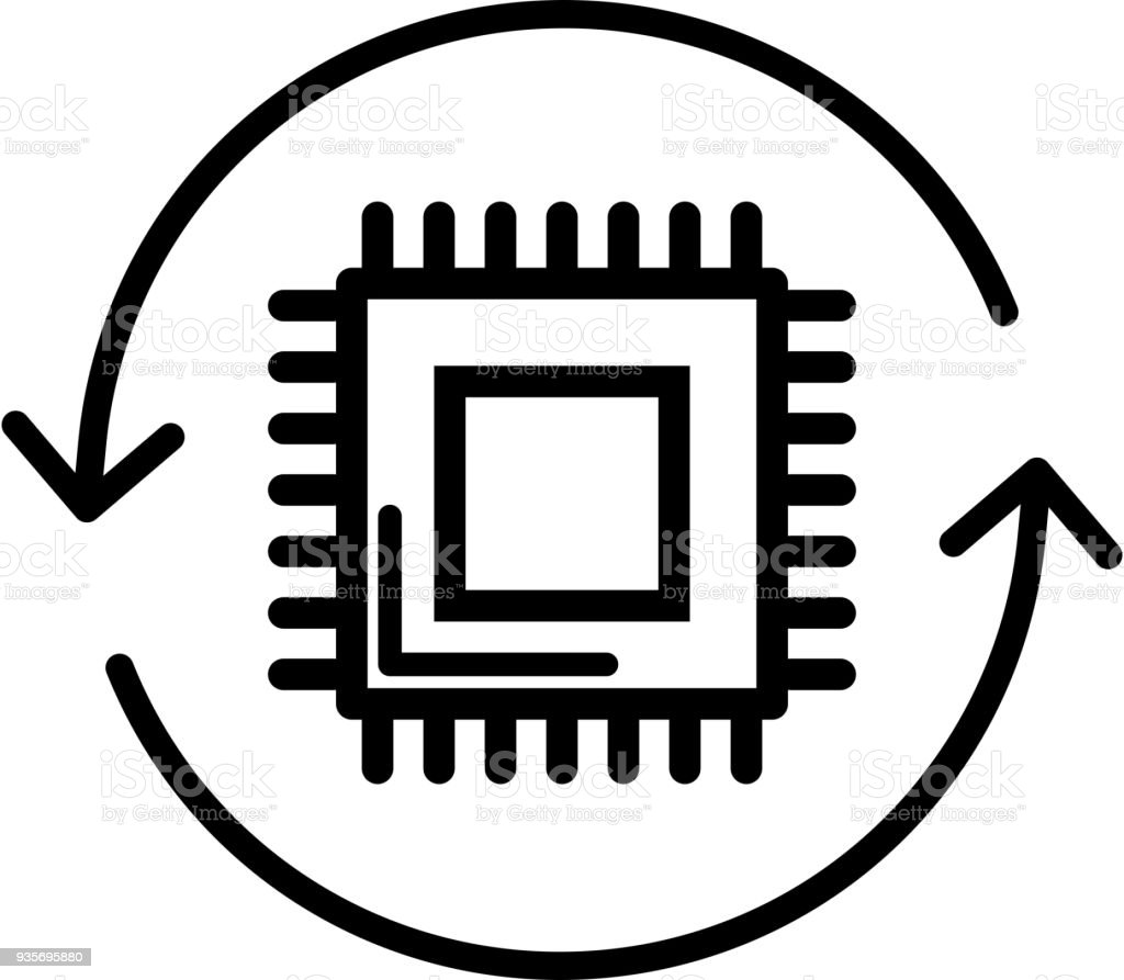 Microcontroller IOT Icon royalty-free microcontroller iot icon stock illustration - download image now
