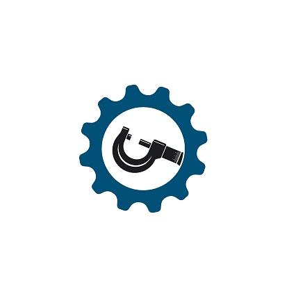 micrometer icon vector illustration design template
