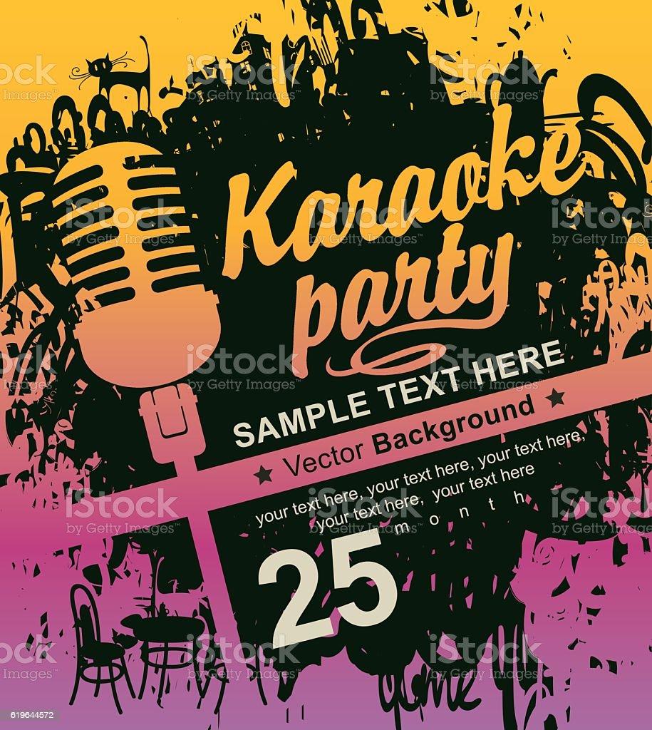 microphone for karaoke parties vector art illustration