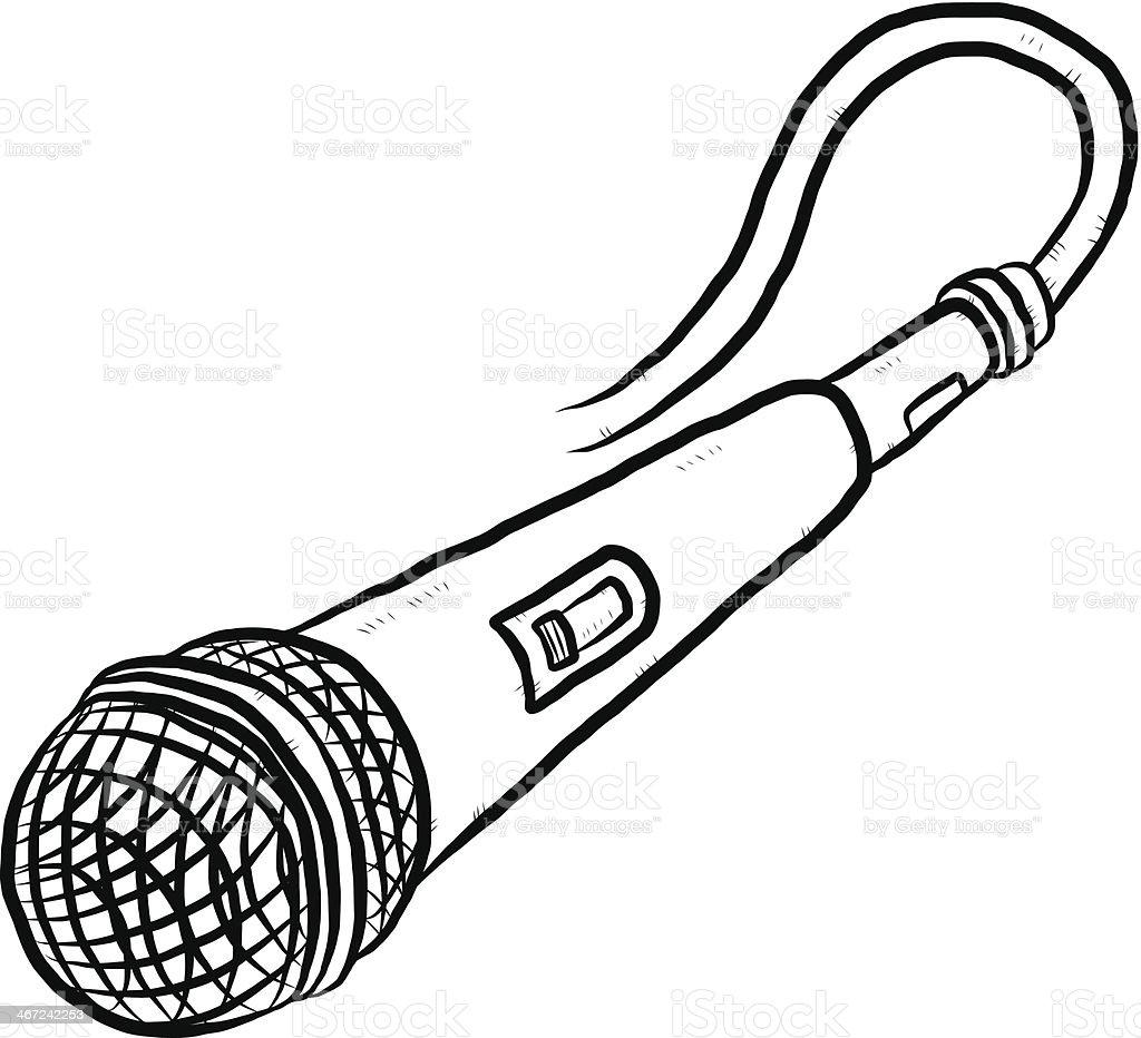 Ilustración De Micrófono De Dibujos Animados Dibujados A