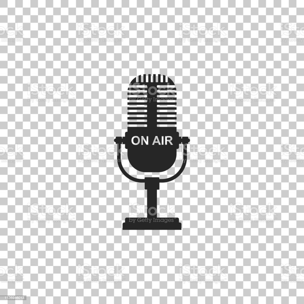 Microphone Icon Isolated On Transparent Background On Air Radio Mic Microphone Speaker Sign Flat Design Vector Illustration Stock Illustration Download Image Now Istock