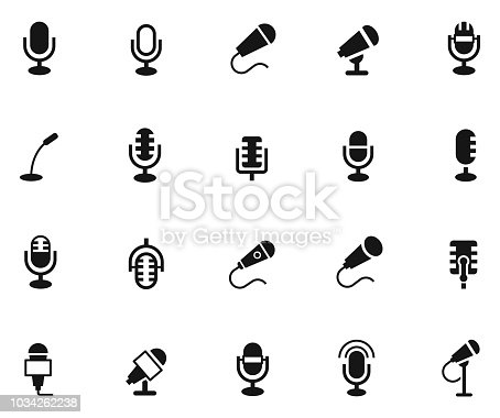 Microphone icon set , vector illustration