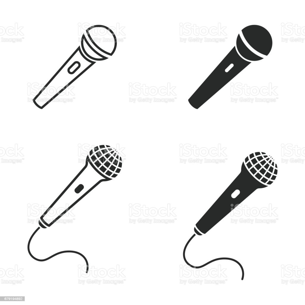 Microphone icon set.