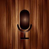 Microphone icon. Sound recording