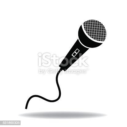 Mikrofonsymbol Stock Vektor Art und mehr Bilder von 2015 531865305 ...