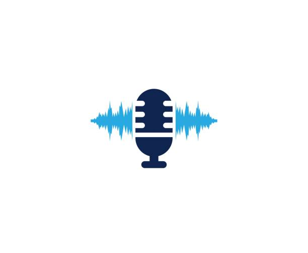 microphone icon - podcast stock illustrations