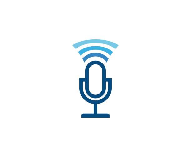 ilustrações, clipart, desenhos animados e ícones de ícone de microfone - podcast