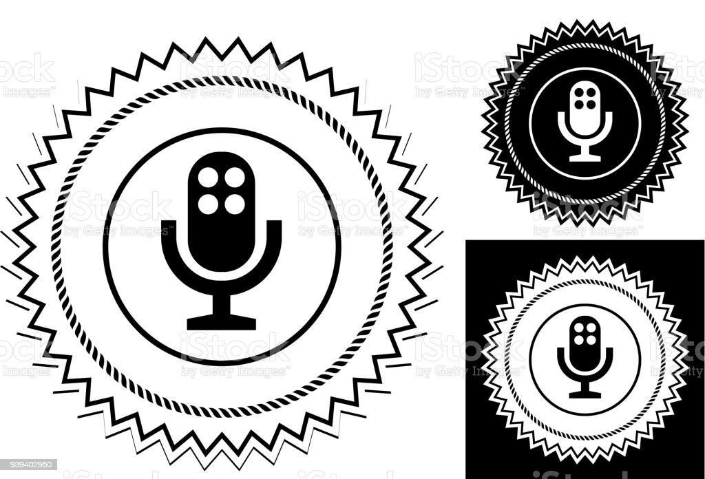 Mikrofonsymbol Stock Vektor Art und mehr Bilder von Abzeichen ...