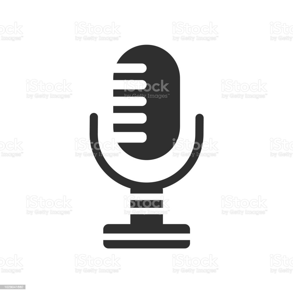 Microphone Icon Vector Sign And Symbol Isolated On White Background Microphone Logo Concept