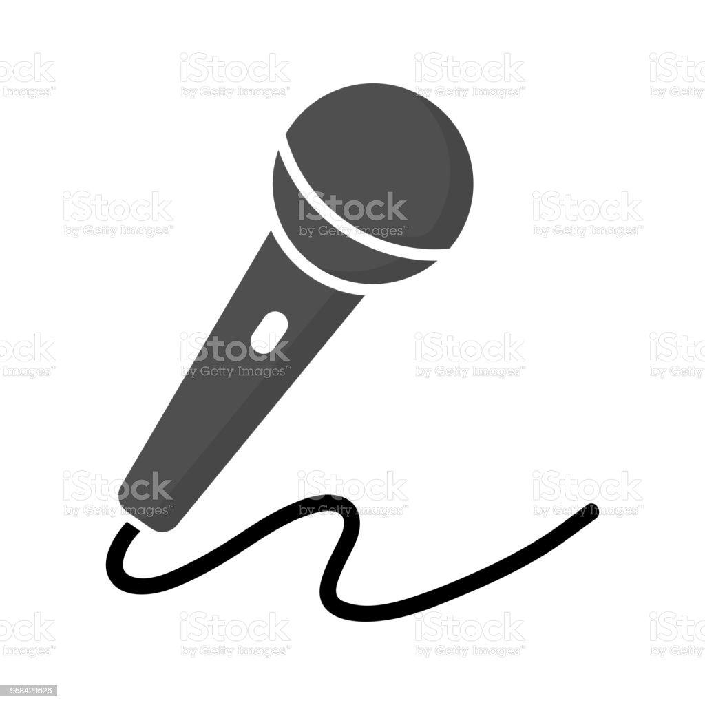 Ilustración de Vector Icono De Micrófono Voz Grabadora Entrevista ...