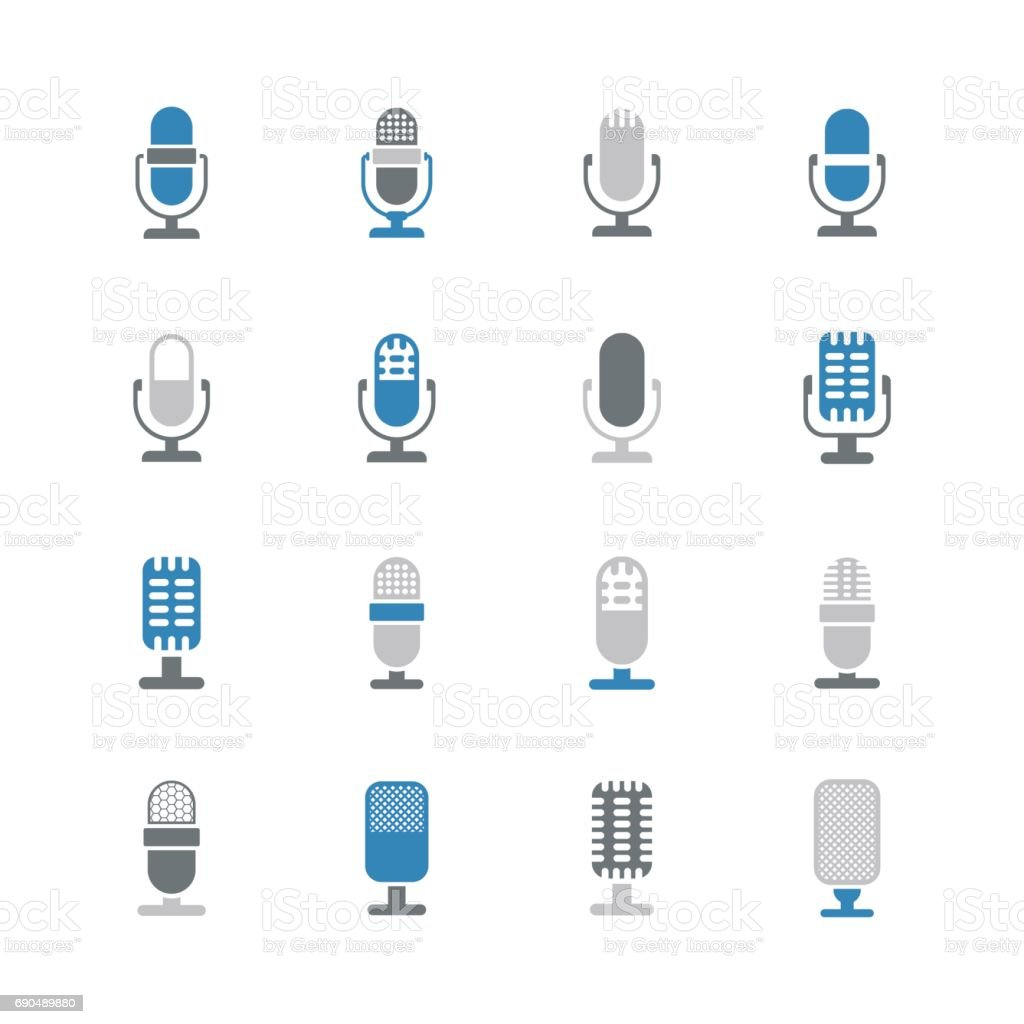 Microphone icons vector art illustration