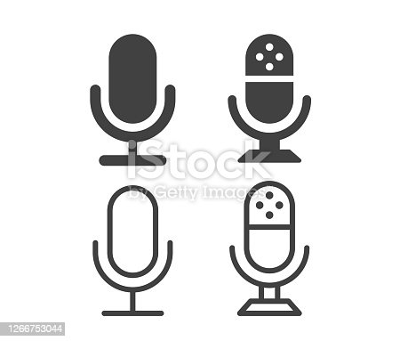 istock Microphone - Illustration Icons 1266753044