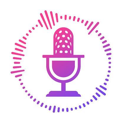 Microphone Music Podcast Talk Radio Icon Symbol