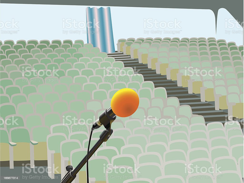 Microphone on the stage royalty-free microphone on the stage stock vector art & more images of armchair