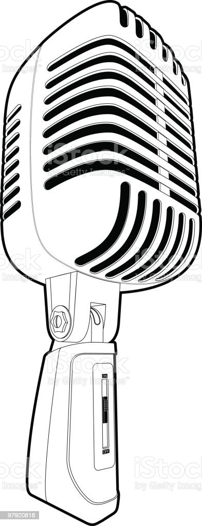 Microphone outline royalty-free microphone outline stock vector art & more images of 1950-1959