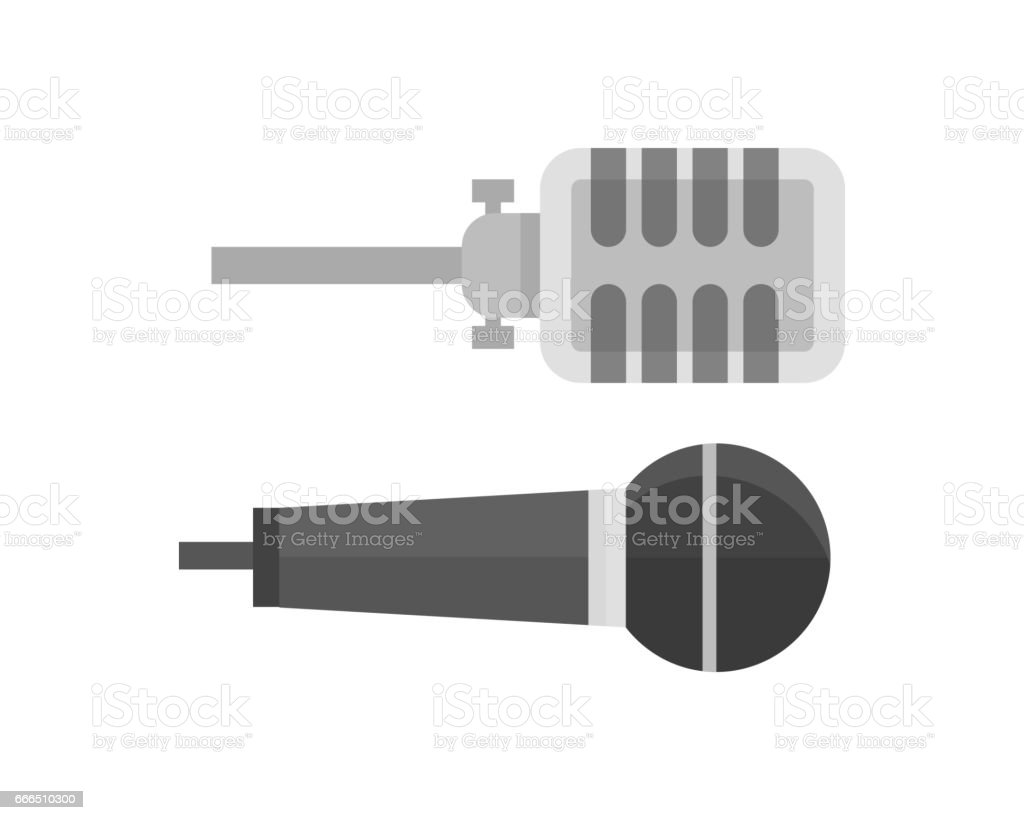 Microphone Vector Icon Isolated Interview Music Tv Tool Show Voice Radio  Illustration Stock Illustration - Download Image Now