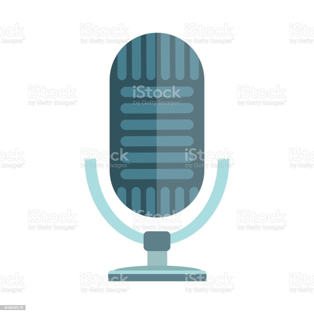 Microphone Vector Icon Isolated Interview Music Tv Web