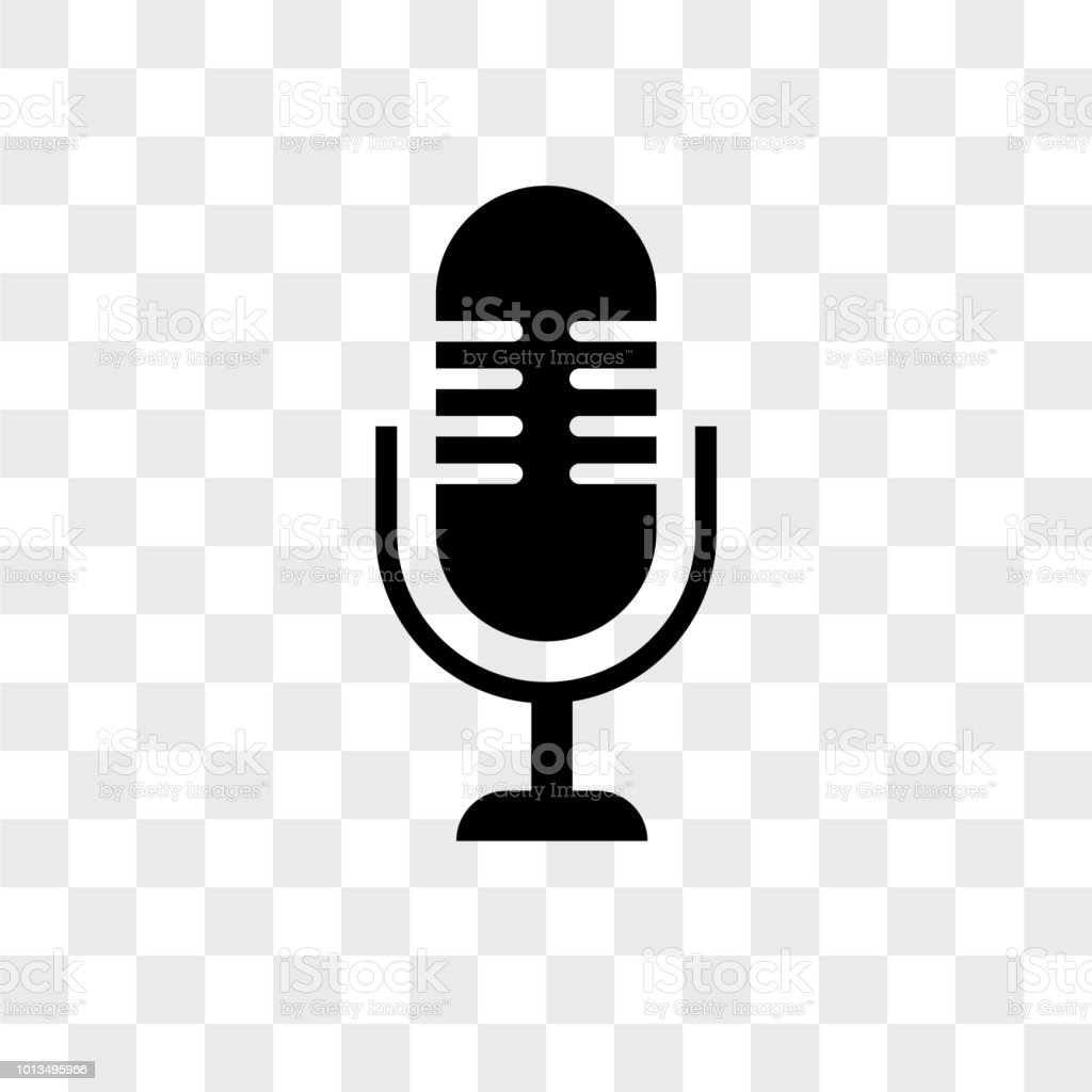 Microphone Vector Icon On Transparent Background Microphone Icon