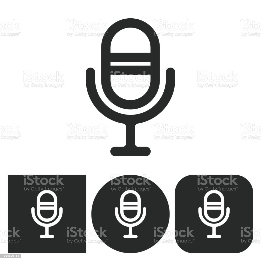 Microphone - vector icon. royalty-free microphone vector icon stock vector art & more images of arts culture and entertainment