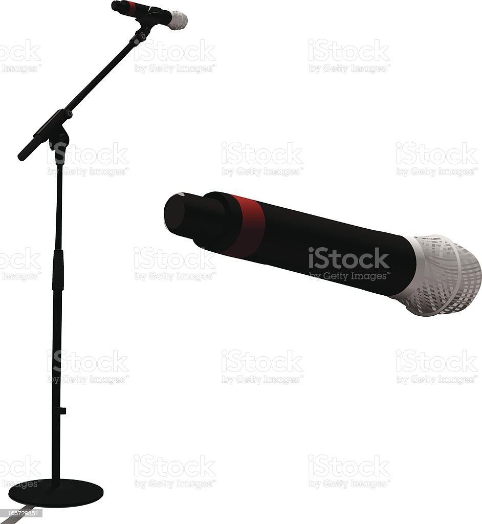 Microphone royalty-free microphone stock vector art & more images of announcement message