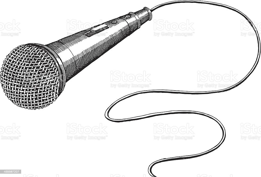 microphone stock vector art  u0026 more images of art 455587207