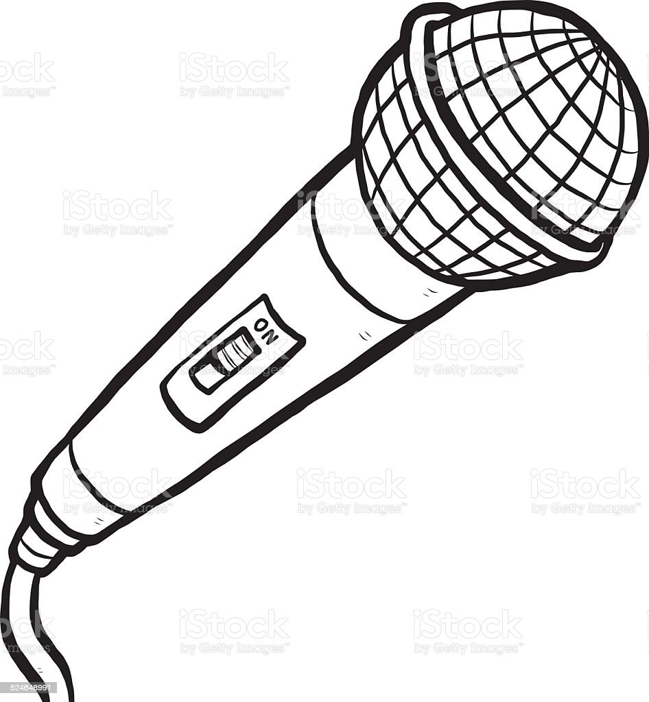 microphone stock vector art  u0026 more images of black and