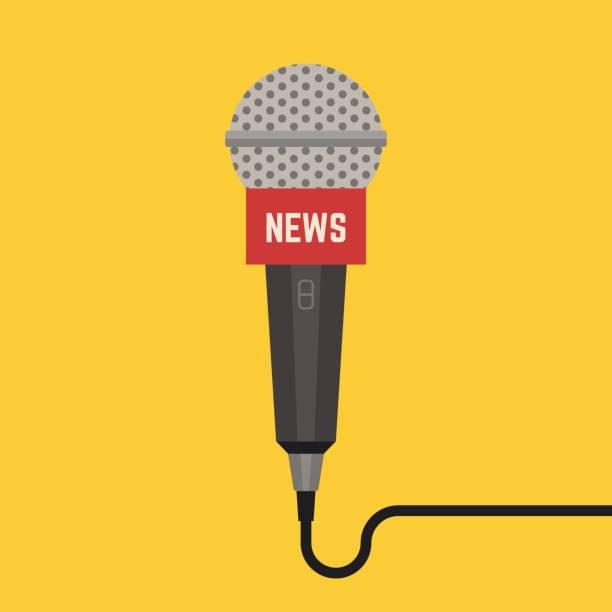 illustrations, cliparts, dessins animés et icônes de vecteur de microphone avec ware. - interview