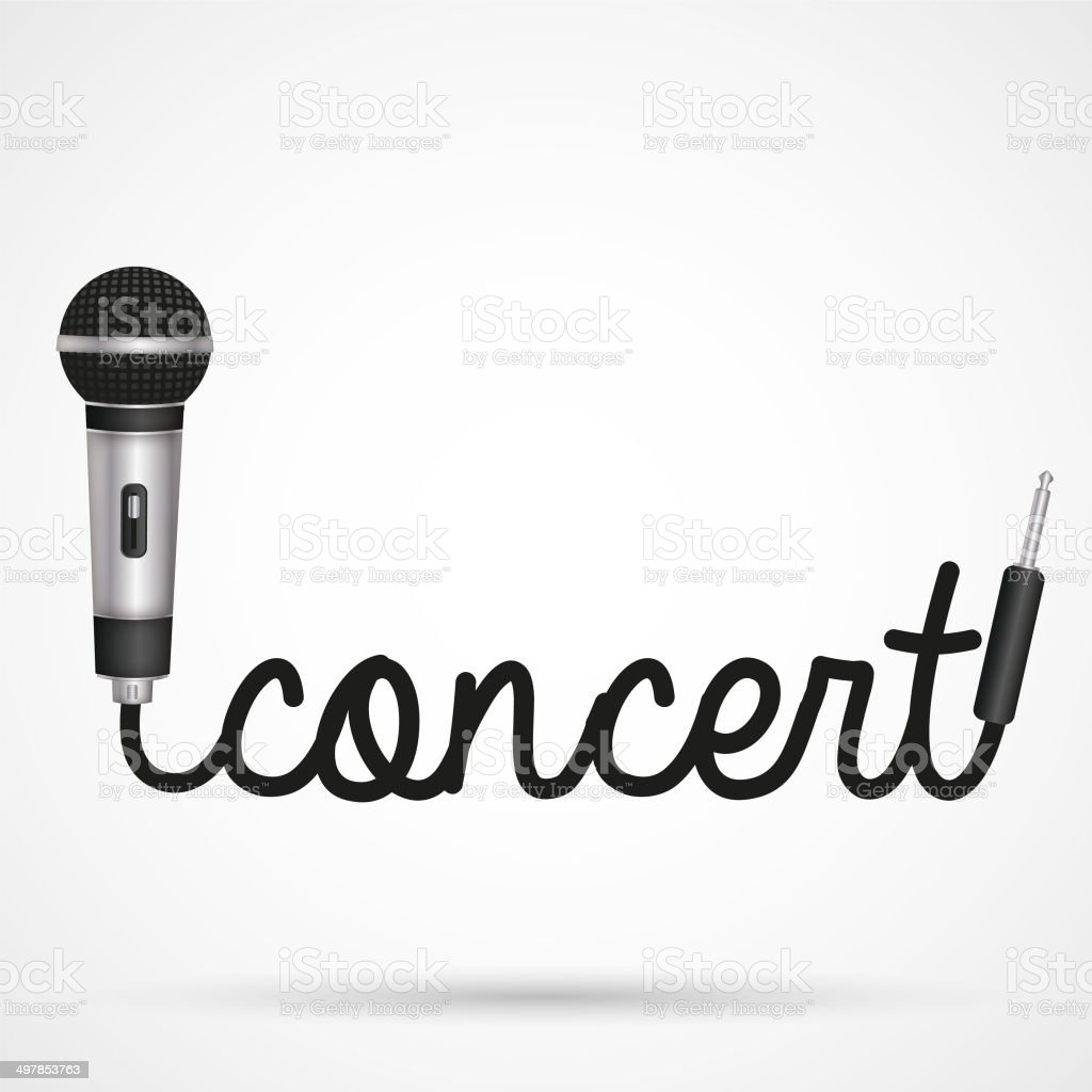 microphone word concert stock vector art amp more images of
