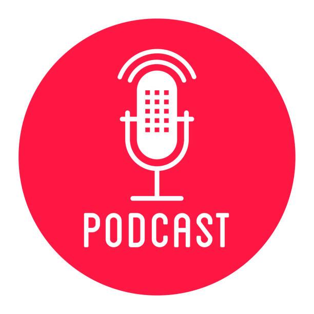 ilustrações, clipart, desenhos animados e ícones de microfone-ícones - podcast