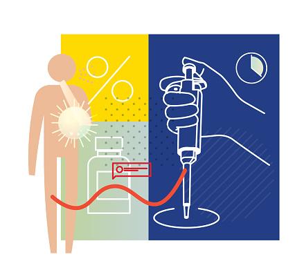 Micropipette - RT- PCR Testing - Illustration