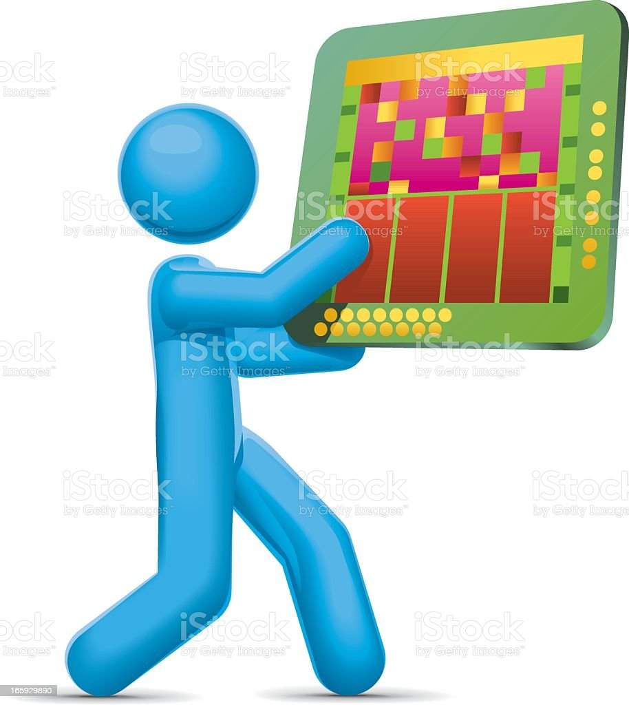 Microprocessor Technology royalty-free stock vector art