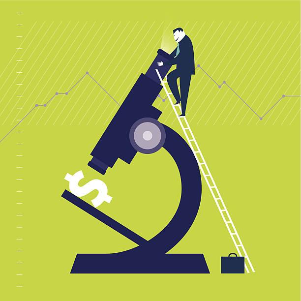 Microscope Dollar vector art illustration