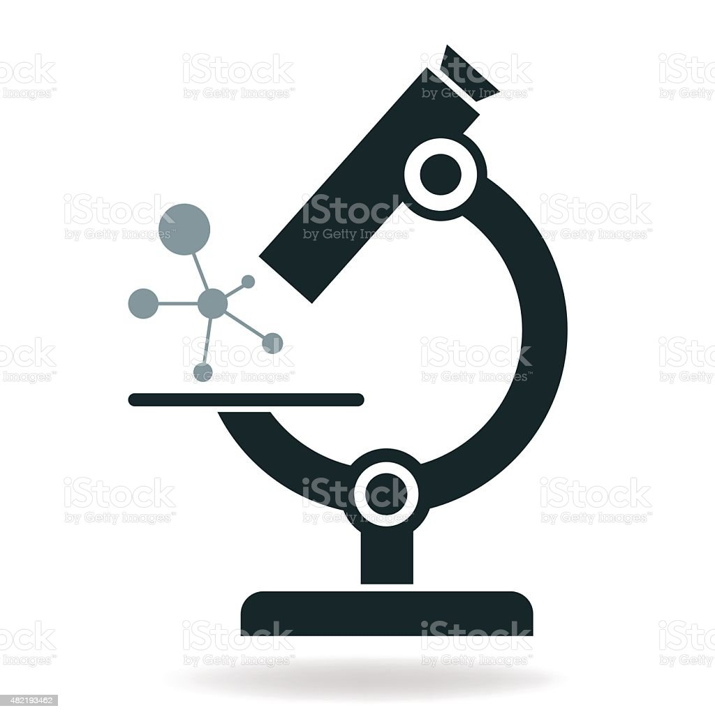 microscope icon vector vector art illustration